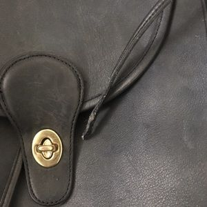 Coach Bags - vintage 90s navy blue leather coach mini backpack